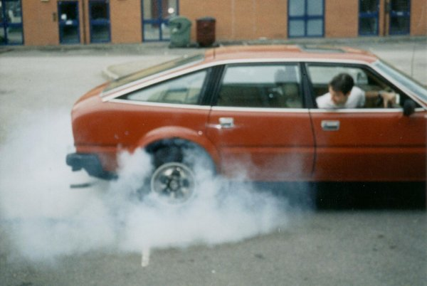 R-Reg classic Rover 3500 SD1, fantastic for burnouts (only cost £300)